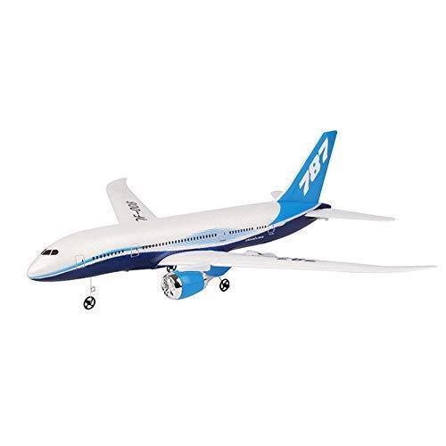 GCDN Avión RC, DIY EPP Espuma Control Remoto Avión RC Drone QF008-Boeing 787-2.4G 3Ch RC Avión Juguetes Ala Fija Avión Kit Aeromodelling (Paquete 1)
