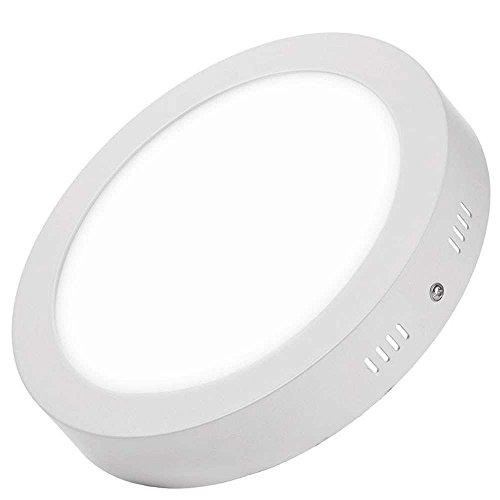 Plafon LED Circular 24W Superficie Panel Downlight LED Φ300mm Blanco Neutro 4000k-4500k Lampara Para Sala de Estar,Comedor,Dormitorio,Oficina,Tienda Comecial ONSSI LED