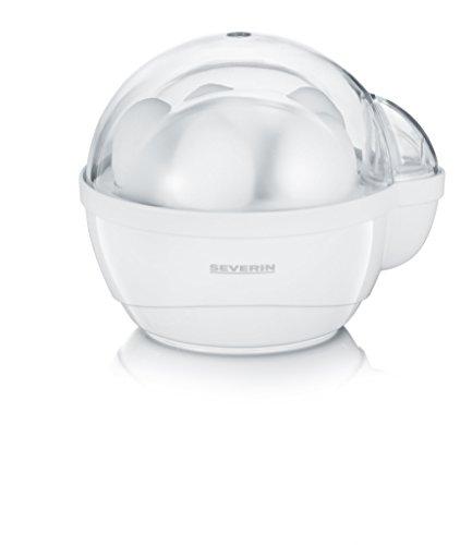 Severin Eierkoker, waterdoseerapparaat, eierboor, incl. 6 eieren, piepton geluid, EK 3050, wit