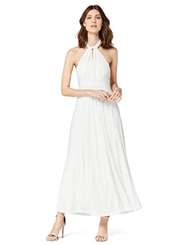 Marca Amazon - TRUTH & FABLE Vestido Maxi Mujer, Blanco (Ivory), 40, Label: M