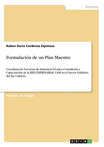 Formulación de un Plan Maestro: Coordinación Servicios de