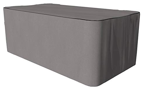 SORARA Housse de Protection Hydrofuge pour Table Rectangulaire | Gris | 165 x 95 x 70 cm