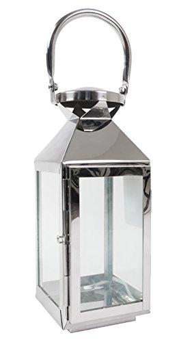 BURI Edelstahl Laterne Gartenlaterne Windlicht Metalllaterne Gartendeko Kerzenhalter