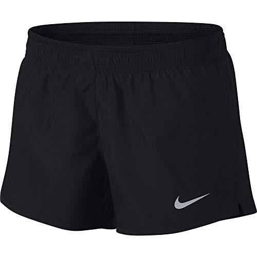 Nike W Nk 10K Pantalón Corto, Mujer, (Negro/Wolf Grey), L