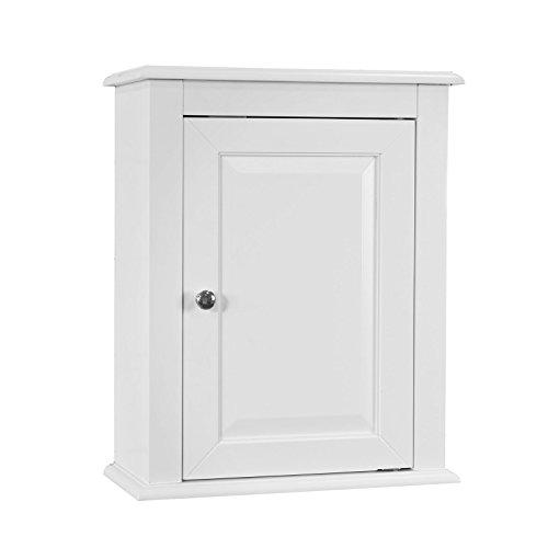 SoBuy FRG203-W,Armario suspendido de baño para la Pared con Puerta,L 40 x P 18 x H 49cm,Blanco,ES