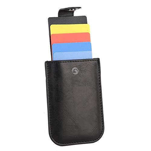 Pinsofy Portatarjetas, Conveniente y práctico Portatarjetas de identificación Comercial para Hombre de Negocios para reuniones para vendedores para seminarios(Black)
