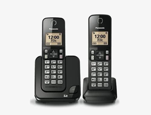 Panasonic KXTGC-352MEB Teléfono Inalámbrico de Línea Fija Color Negro