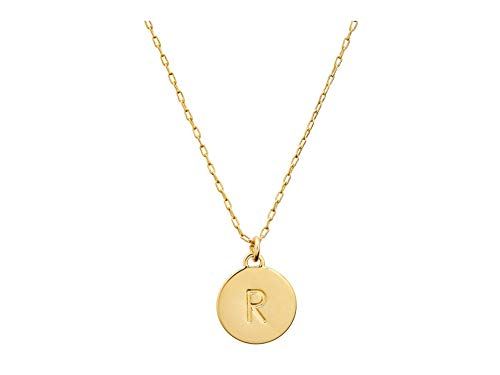 Kate Spade New York R Mini Pendant Necklace Gold One Size