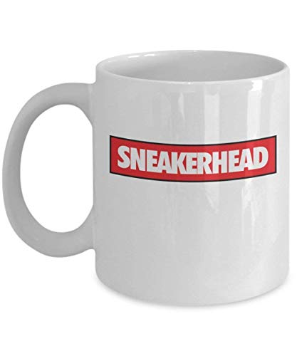 N\A Sneakerhead Sneaker Head Supreme Coffee Mug Cup (Blanco) Sneakerhead Gift Merchandise Accesorios Nike Yeezy Cup Shirt Pin Poster Decor Decal