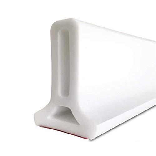 KMKN Soglia Doccia Pieghevole,Barriera per Doccia Flessibile Striscia di Ritenzione Idrica per La Separazione A Secco E A Umido Bianca,250CM