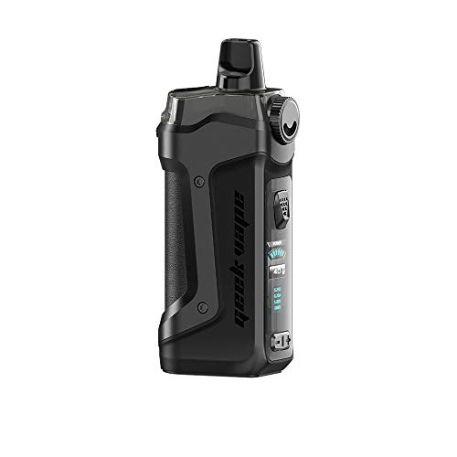 Geekvape Aegis Boost Plus 40W 3-in-1 Pod Kit 40W Kit 2ml Capacità No e Liquid, No Nicotine (Space Black)