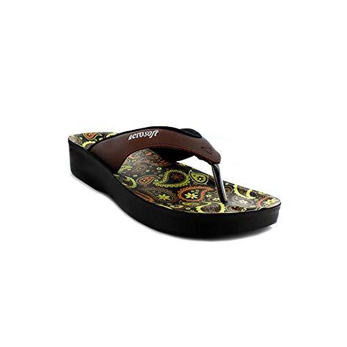 Aerosoft Footwear Damen A0862-BRW-7 Zehentrenner, braun, 7 EU