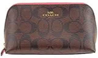 Coach Signature Canvas Cosmetic Case 17 F53385 IM/Brown Strawberry