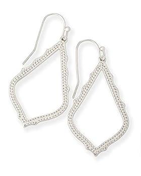 Kendra Scott Sophia Drop Earrings for Women Dainty Fashion Jewelry Rhodium-Plated