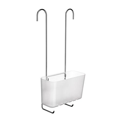 Tatay Standard Single Cesta organizadora de Ducha o bañera Ajustable a Todo Tipo de grifos plástico polipropiel, Acero Inoxidable, Glacé, 20.5 x 11 x 41.5 cm