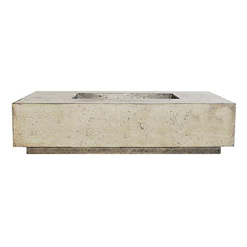 Buy Bargain Prism Hardscapes Tavola 4 Concrete Gas Fire Pit (PH-408-3NG), Natural Gas, Natural, 66x3...