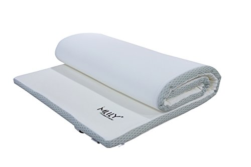 Ebitop Matratzenauflage 80x200x4 cm Viskose Topper | Matratzentopper Traum-Schlaf | viskoelastische Auflage für Matratze/Boxspringbett H2+, weiß