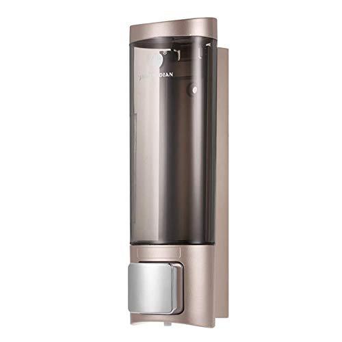 Dubbele vloeibare zeepdispenser Badkamer Hand Touch Zeepdispenser Pomp Wandgemonteerd wasmiddel Shampoo Dispenser voor vloeibare zeep, 1 stuk Champagne goud