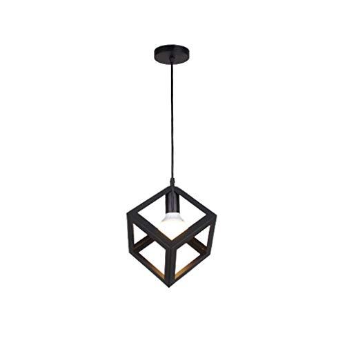 Pointhx Sencillez Nórdica Colgantes Luz Hollow Cube Pantalla Lámpara de Techo Decoración Colgando Luz Dormitorio Café Hotel Cocina Isla Canallas E27