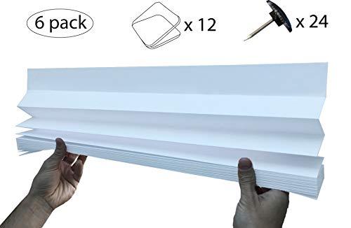 6 x Tendine plissettate semi-oscuranti (90cm x 180cm)
