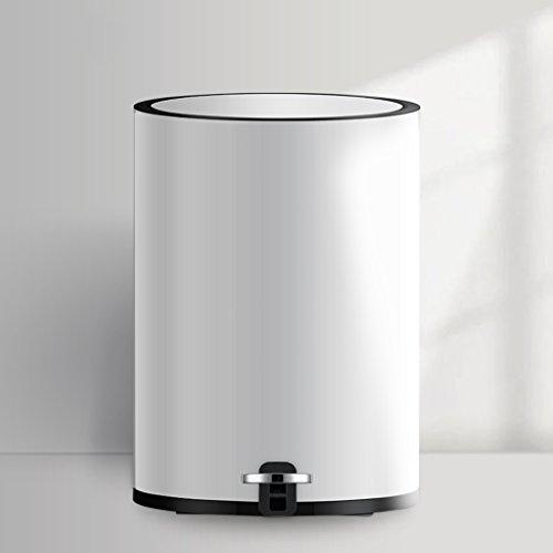 NYDZDM poubelle de ménage, Poubelle créative de désodorisant de métal de pédale créatrice de pédale 8L