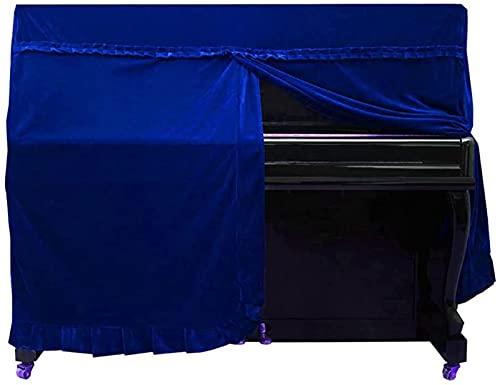Funda protectora para piano – Cubierta completa para piano vertical, cubierta para el polvo de piano elegante de lujo con volantes