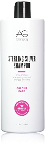 AG Hair Colour Care Sterling Silver Toning Shampoo, 33.8 Fl oz