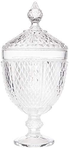 Bomboniere Comodoro em Cristal Ecológico com Pé L'Hermitage Transparente 32.5 cm Pacote de 1 Vidro