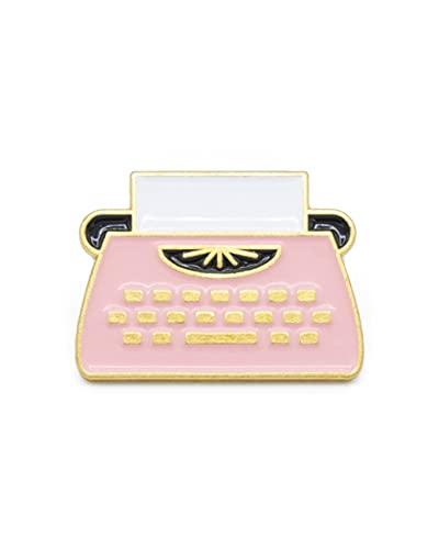 YUTTALIA タイプライター ピンバッジ ピンク ピンズ ブローチ キーボード ピンバッチ かわいい ユニーク