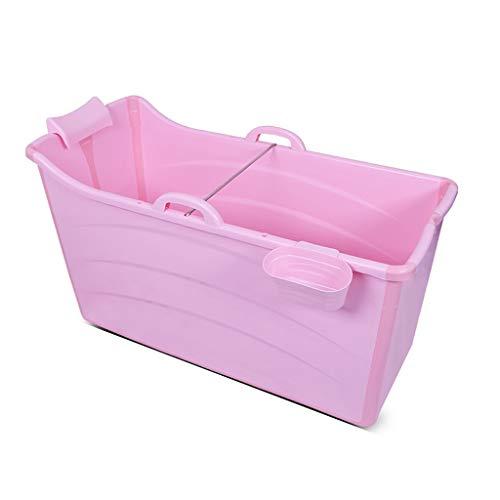 CYLQ vouwbad voor volwassenen, draagbaar plastic douchecabine, groot groot groot groot en dik babyzwembad, kinderbadje blauw roze 120 * 54 * 67cm