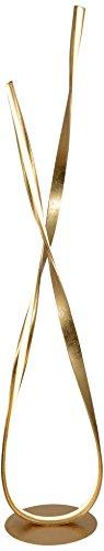 Näve Leuchten Lampadaire LED Goldleaf, métal, doré, 28 x 23 x 140 cm