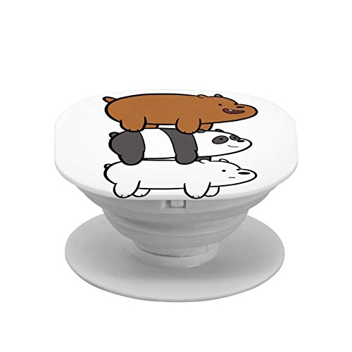 We Bare Bears Cell Phone Foldable Expanding Stand Holder Phone Round Stand and Grip Folding Pop Up Back Stand Universal Phone Mount,Collapsible Grip & Stand for Phones and Tablets
