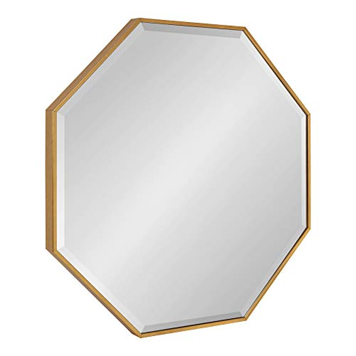 """Kate and Laurel Rhodes Glam Octagon Wall Mirror, 29"""" x 29"""", Gold, Modern Home Decor for Wall"""