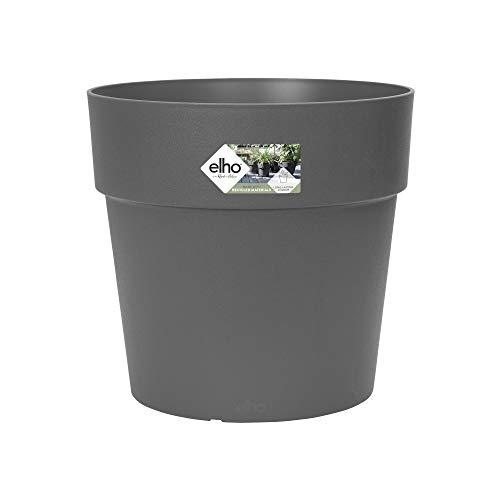 Elho Vibia Straight Round 40 - Macetero - Anthracite - Exterior - Ø 40 x A 36.6 cm