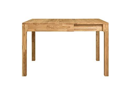 Nordic Story Marsi Esstisch, ausziehbar, 85 - 125 cm, massives Eichenholz, ideal für Küche, Wohnzimmer, Terrasse - Möbel im nordischen Stil