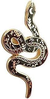 Snake Serpente rune magico mistico enamel pin spilla