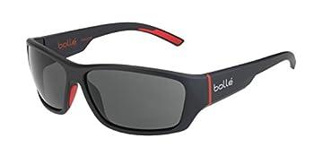 Bolle Ibex Matte Black Red 12372 Sunglasses Polarized TNS Oleo Lens Large