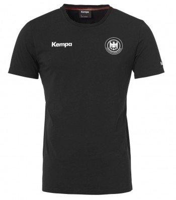FanSport24 Kempa DHB Deutschland T-Shirt, Schwarz, Kinder Größe 128