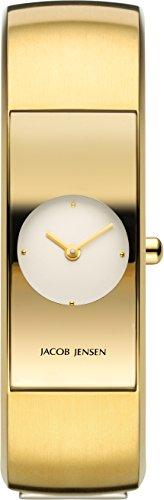 Jacob Jensen Damen Analog Quarz Uhr mit Edelstahl Armband 472