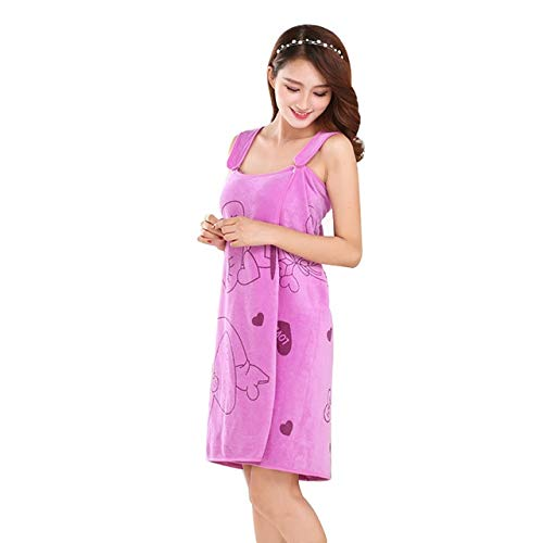 Damen Kimono Robe Set SPA Wickelkörper sexy Bademantel lässig lässig Pyjama nach Hause-Purple