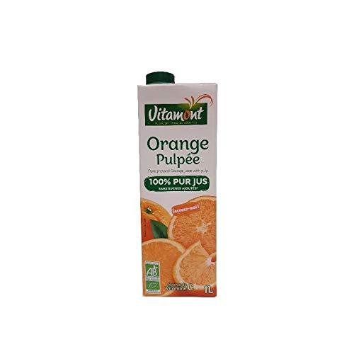 VITAMONT Zumo Naranja Pulpa Brick 1 L, Estándar, Único