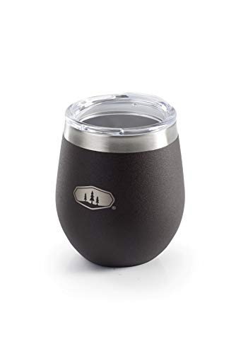 GSI Outdoors Glacier Stainless Lightweight Insulated Glass Cup for Camping, Office, BBQ - 8 oz - Espresso