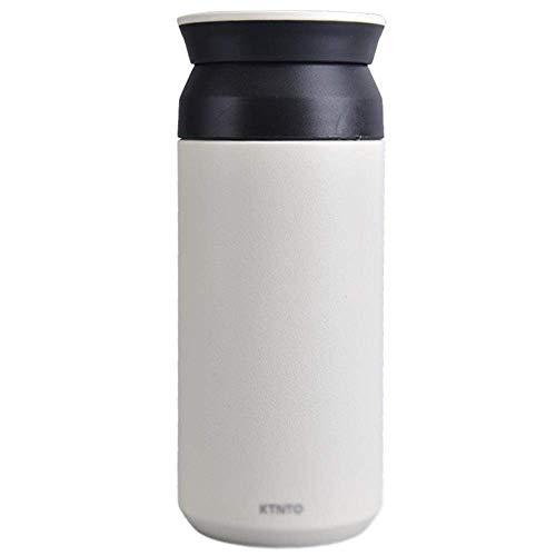 GPWDSN Taza de Agua aislada de 350 ml, Acero Inoxidable, Temperatura de Bloqueo a Largo Plazo, Taza de café para Coche, Taza de té, hervidor de Agua fácil de Limpiar (Blanco)