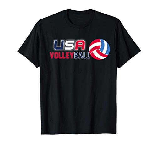 USA Flag Volleyball Men's and Women's Volleyball Shirt T-Shirt