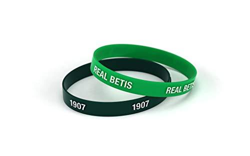 Real Betis Balompié Pulsera Relieve Verde y Negra Junior para Mujer y Niño | Pulsera de Silicona | Apoya al Real Betis con un Producto Oficial verdiblanco | RBB