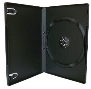 50 negro cajas individuales para DVD - 14 mm - por DragonTrading