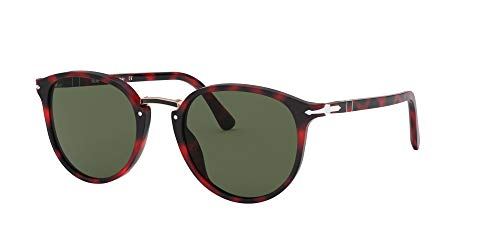 Ray-Ban 0PO3210S Occhiali da Sole, Marrone (Red Grimed), 54.0 Uomo