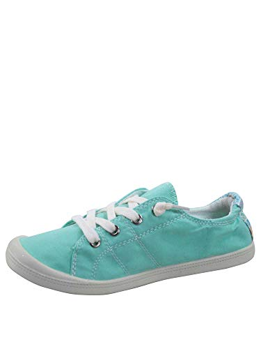 FZ-Comfort-01 Women's Cute Comfort Slip On Flat Heel Round Toe Sneaker Shoes (10 B(M) US, Turqoise)