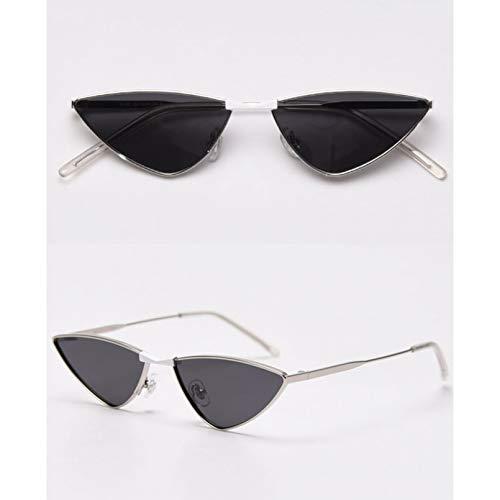 SXRAI Gafas de Sol polarizadas con Montura metálica, Gafas de Sol pequeñas para Mujer, Moda Uv400,C2