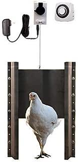 Automatic Chicken Coop Door Opener with Motor & Timer (Complete Kit) | Heavy Duty | Auto Pop Door Opener | Chicken Coop Accessories | Metal